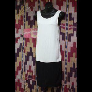 MAGGIE WARD INTERMIX Black and White Silk Dress